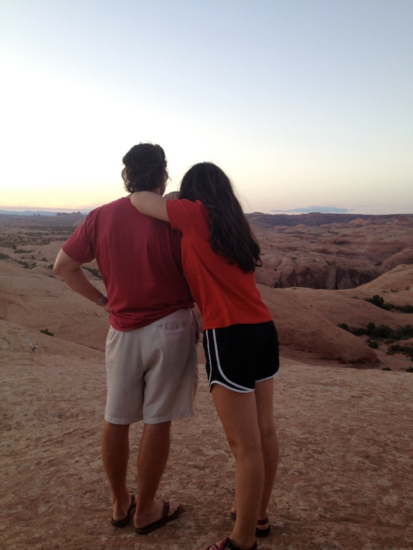 Taking in God's creation in Moab, Utah last summer.