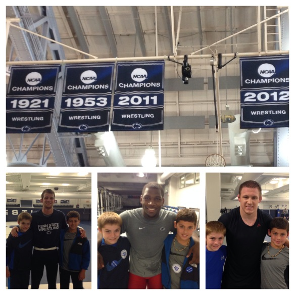 With Penn State national champion wrestlers David Taylor, Ed Ruth and Olympic Gold Medalist Jake Varner