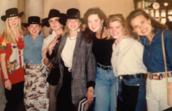 Going to the Houston Rodeo…I remember being quite a site in the airport with all our black hats on!