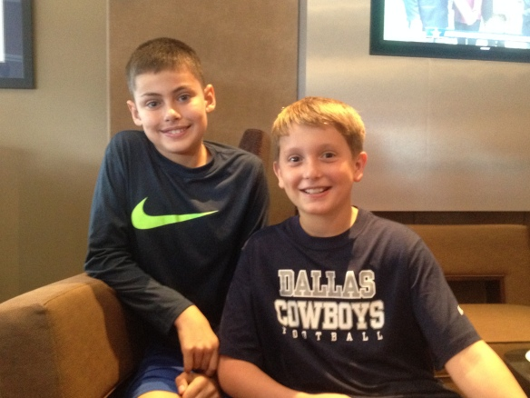 My youngest with his kamp buddy from Nashville, TN!