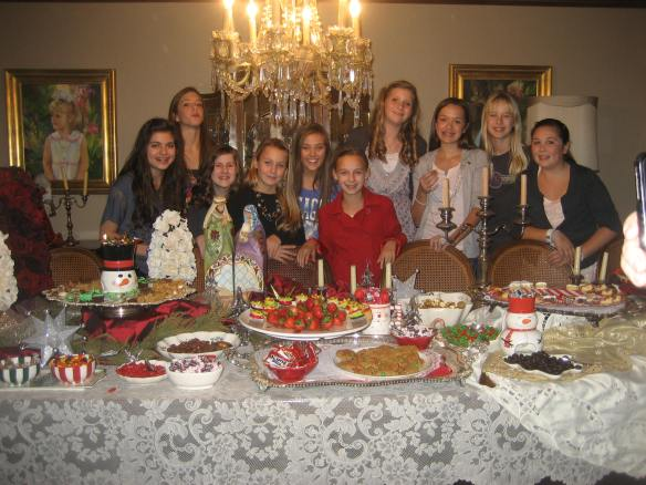Seventh grade Christmas brunch.