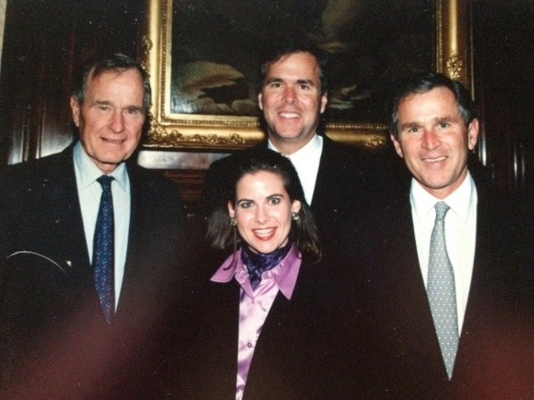 With former President George HW Bush, then Florida Governor Jeb Bush and then Governor George W. Bush