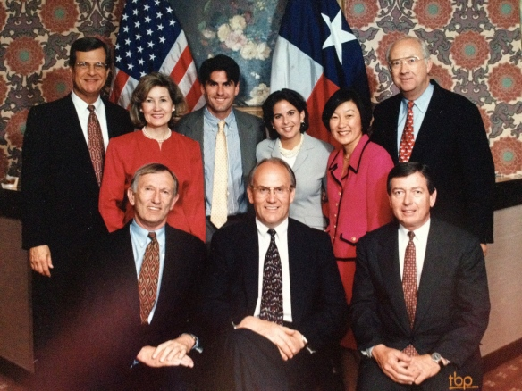 With Texas Senators Phil Gramm and Kay Bailey Hutchison and the Singing Senators. Have you see the House of Cards episode where Congressman Underwood sings with his old college buddies? Think maybe idea came from the real-life Singing Senators.