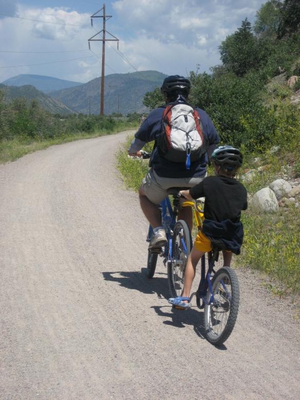Bike ride Daddy and David