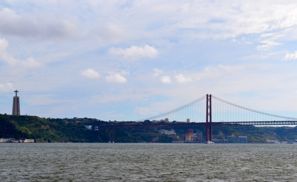 This bridge across the Tagus River leading out of Lisbon.