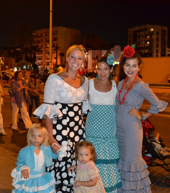 All the girls ready for the Feria in La Linea, Spain.