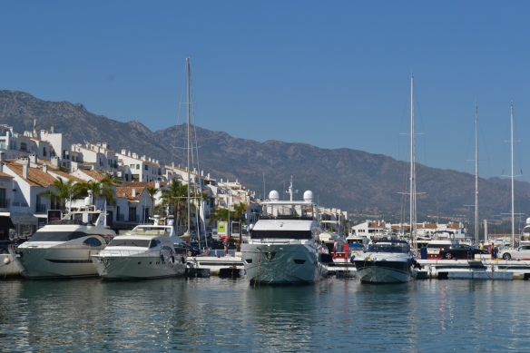 Lunched in Puerto Banus where $20million + yachts of the wealthiest Europeans lined the dock.