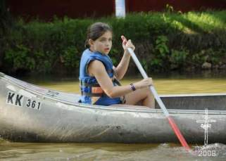 RH in canoe
